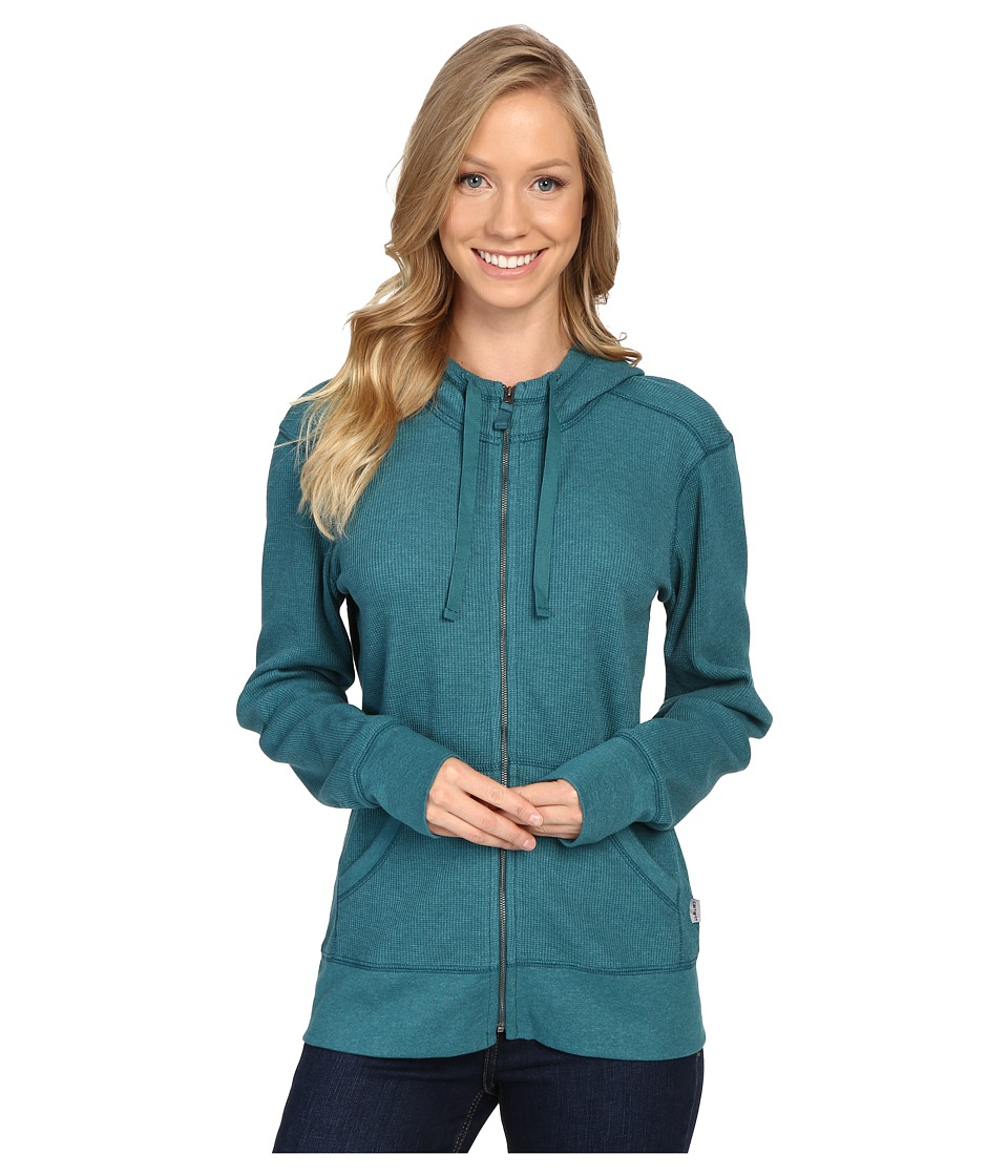 Carhartt - Meadow Zip Front Hoodie (Teal Blue Heather) Women's Sweatshirt