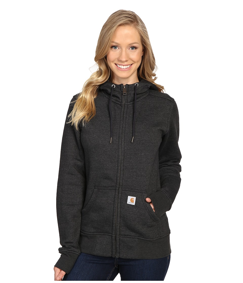 Carhartt - Sandpoint Zip Front Sweatshirt (Black Heather) Women's Sweatshirt