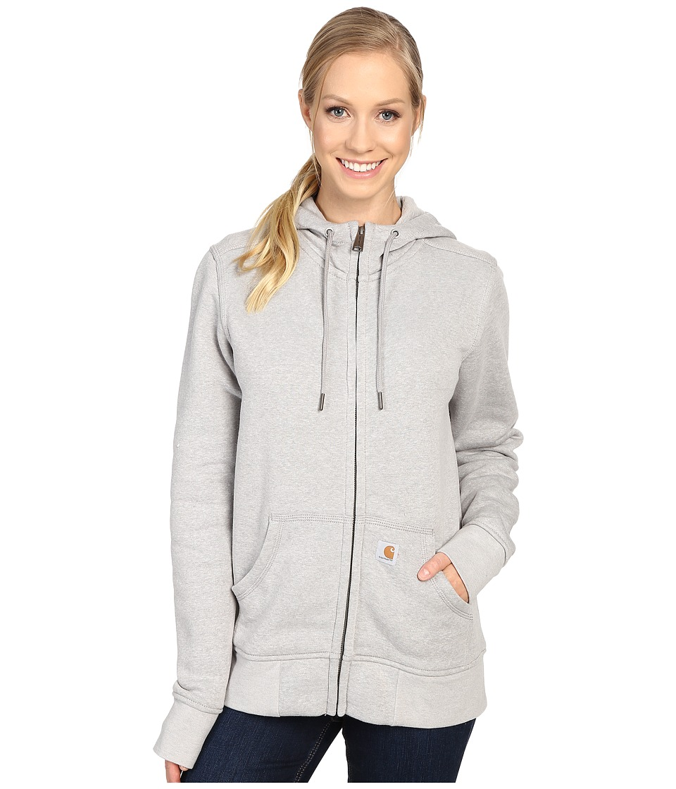 Carhartt Sandpoint Zip Front Sweatshirt (Asphalt Heather) Women