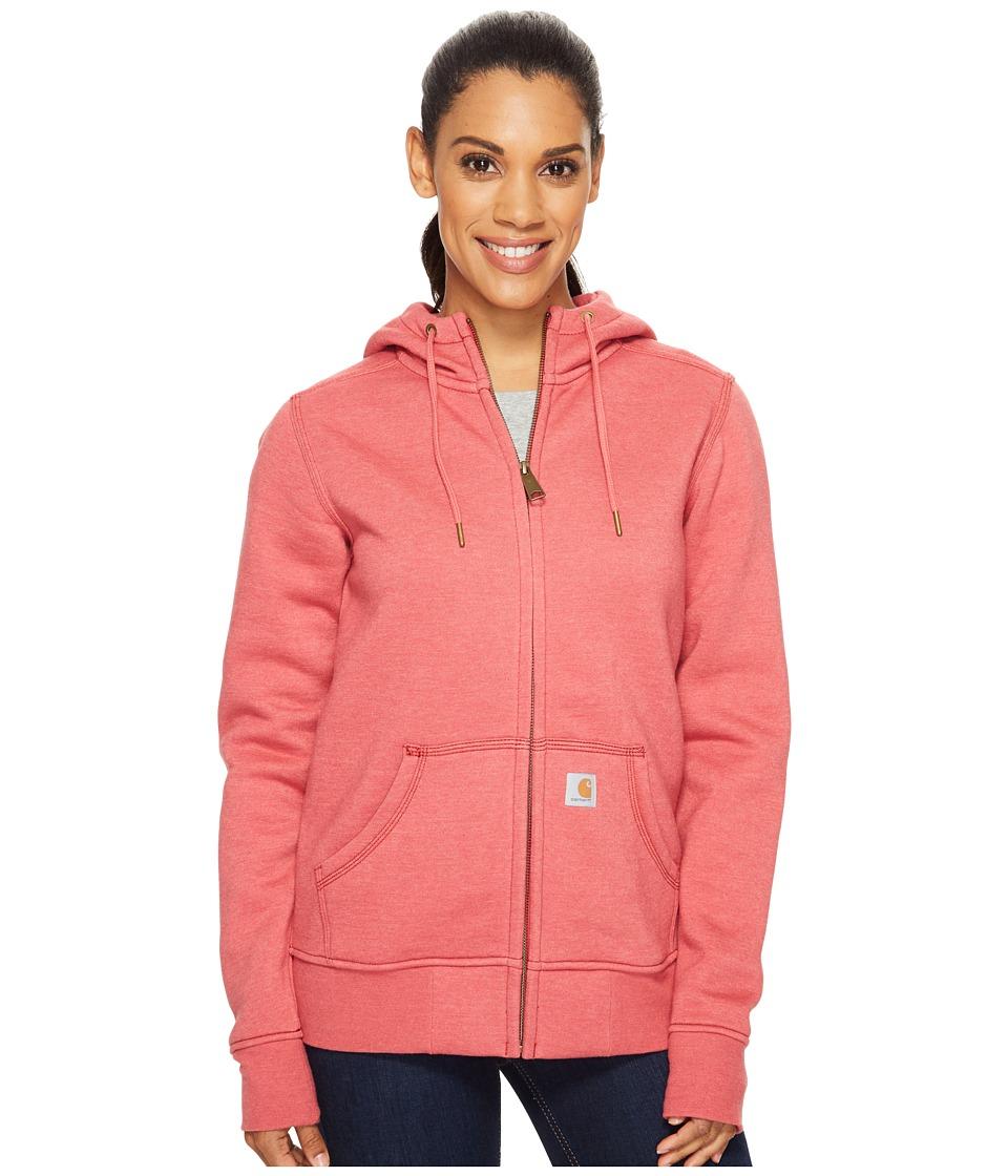 Carhartt - Sandpoint Zip Front Sweatshirt (Wild Rose Heather) Women's Sweatshirt