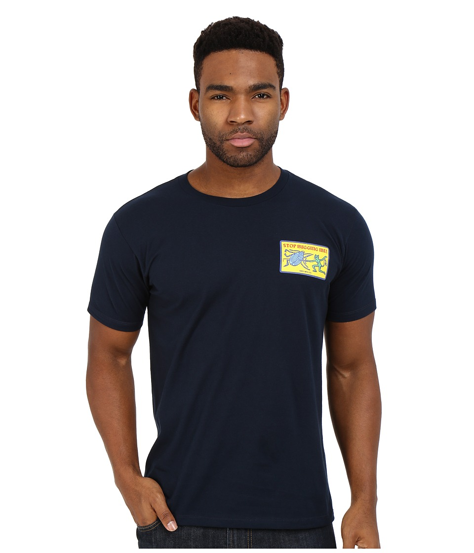 Obey - Premium Stop Bugging Me Tee (Navy) Men's T Shirt