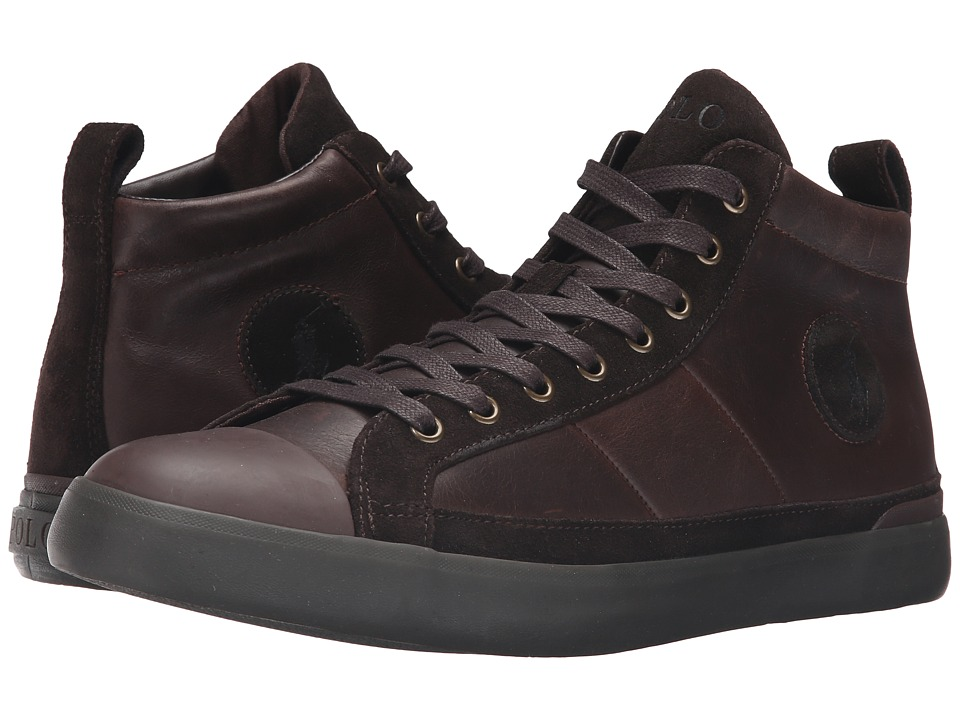 Polo Ralph Lauren - Clarke (Dark Brown Smooth Oil Leather/Sport Suede) Men's Lace up casual Shoes