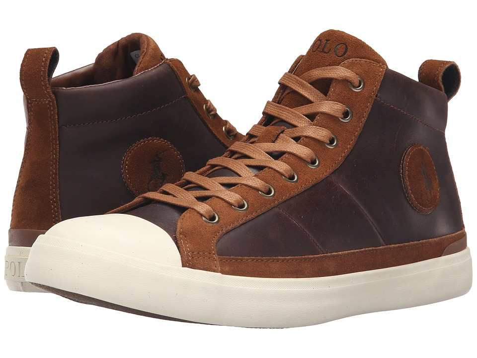 Polo Ralph Lauren - Clarke (Tan Smooth Oil Leather/Sport Suede) Men's Lace up casual Shoes
