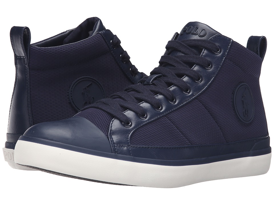Polo Ralph Lauren - Clarke (Navy Oval Mesh) Men's Lace up casual Shoes