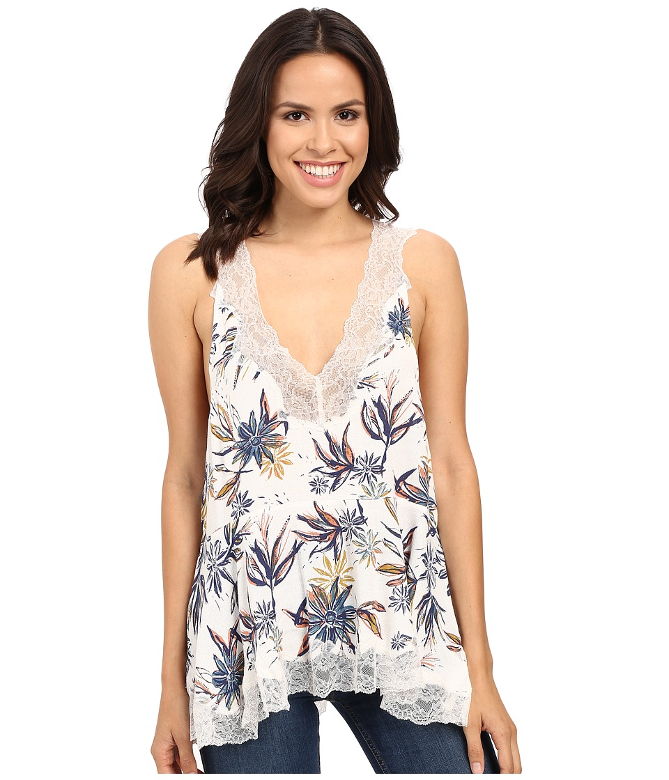 Free People - Bellflower Printed Tunic (Ivory Combo) Women's Blouse