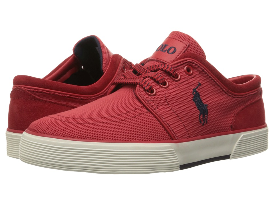 Polo Ralph Lauren - Faxon Low (RL2000 Red Oval Mesh) Men's Lace up casual Shoes