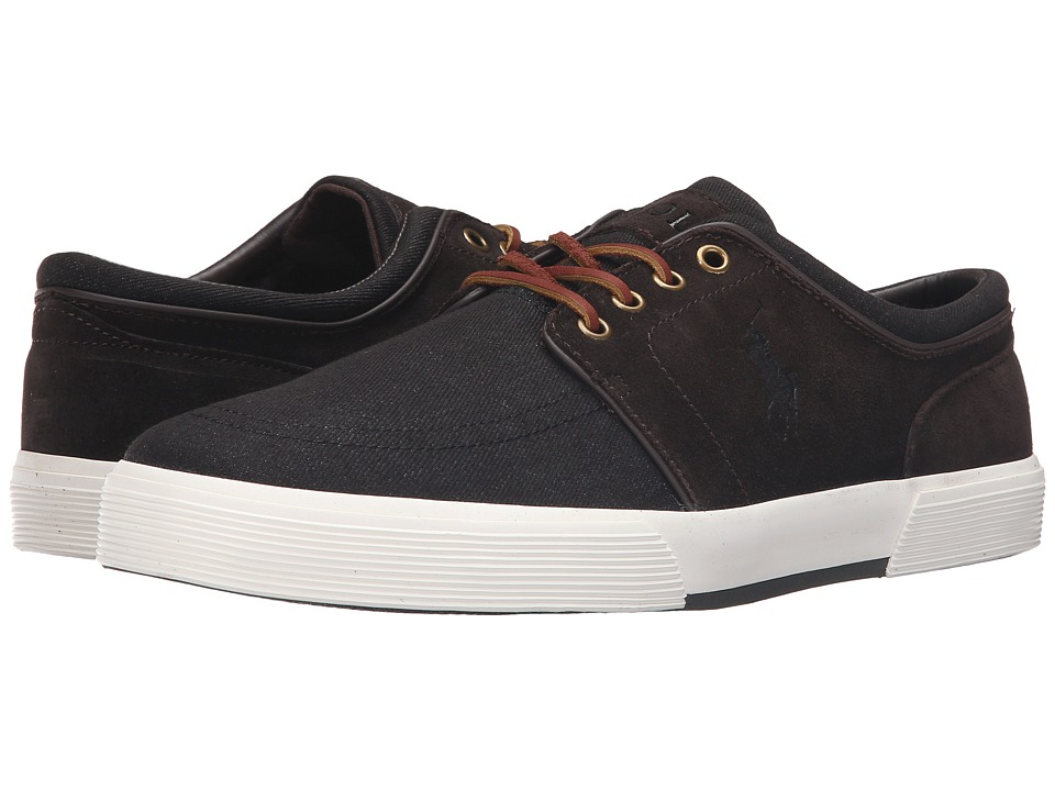 Polo Ralph Lauren - Faxon Low (Dark Denim/Dark Brown Denim/Sport Suede) Men's Lace up casual Shoes