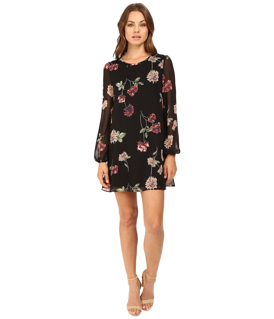 Brigitte Bailey - Chipper Floral Shift Dress (Black Floral) Women's Dress