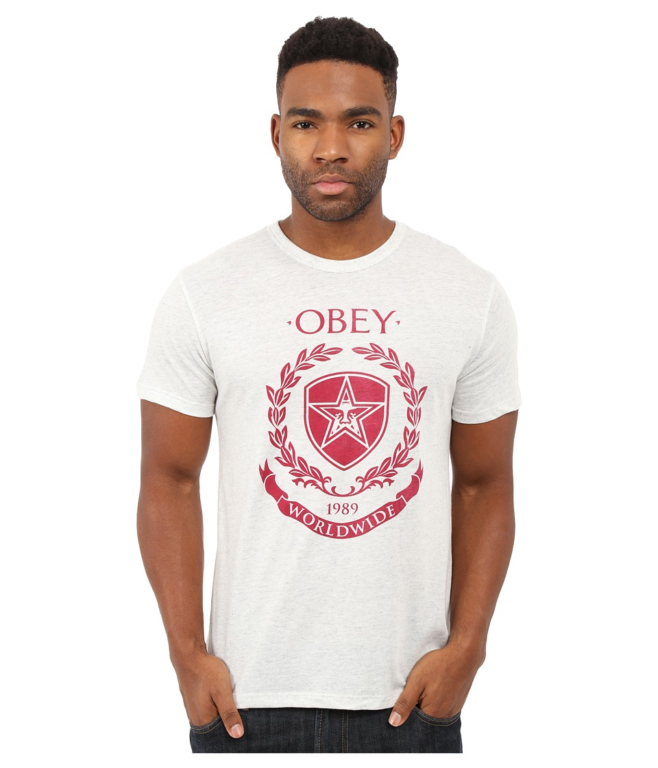 Obey - Shield Wreath Tri-Blend Tee (Heather Grey) Men's T Shirt