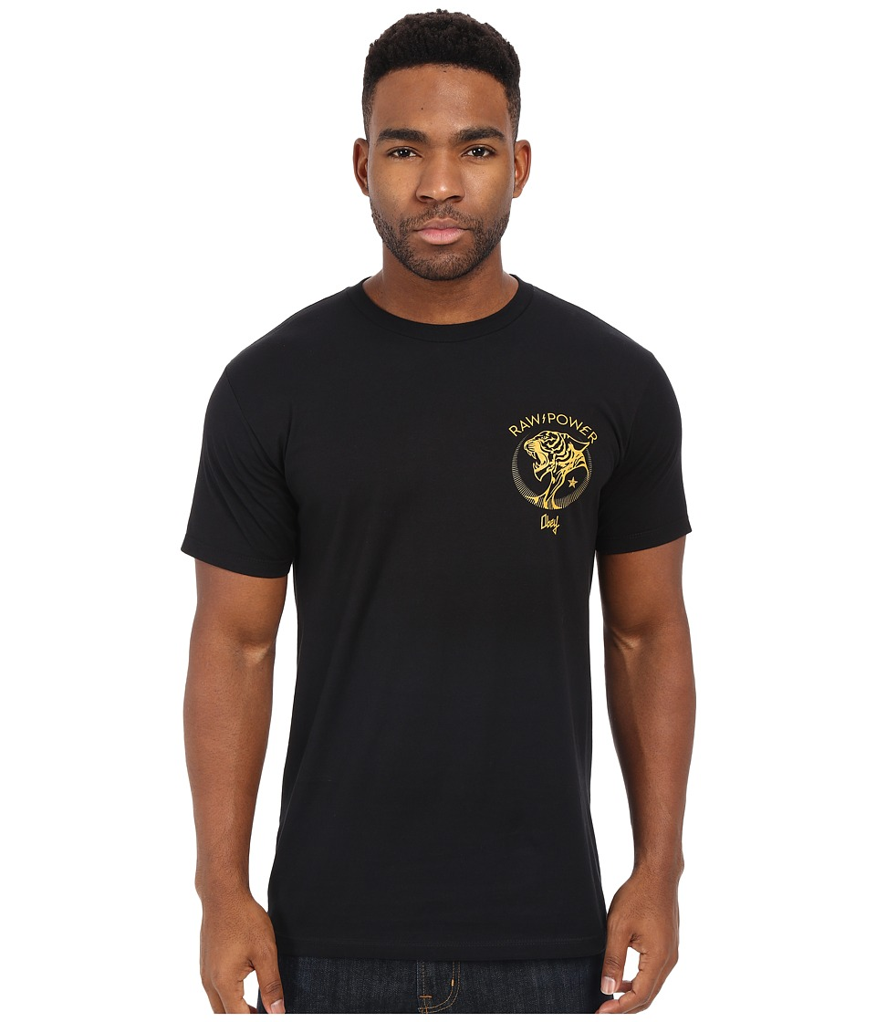Obey - Raw Power Tiger Premium Tee (Black) Men's T Shirt