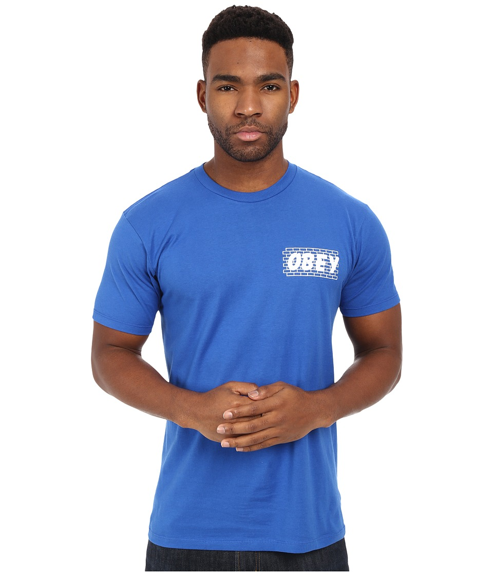 Obey - Brickwall Premium Tee (Royal Blue) Men's T Shirt