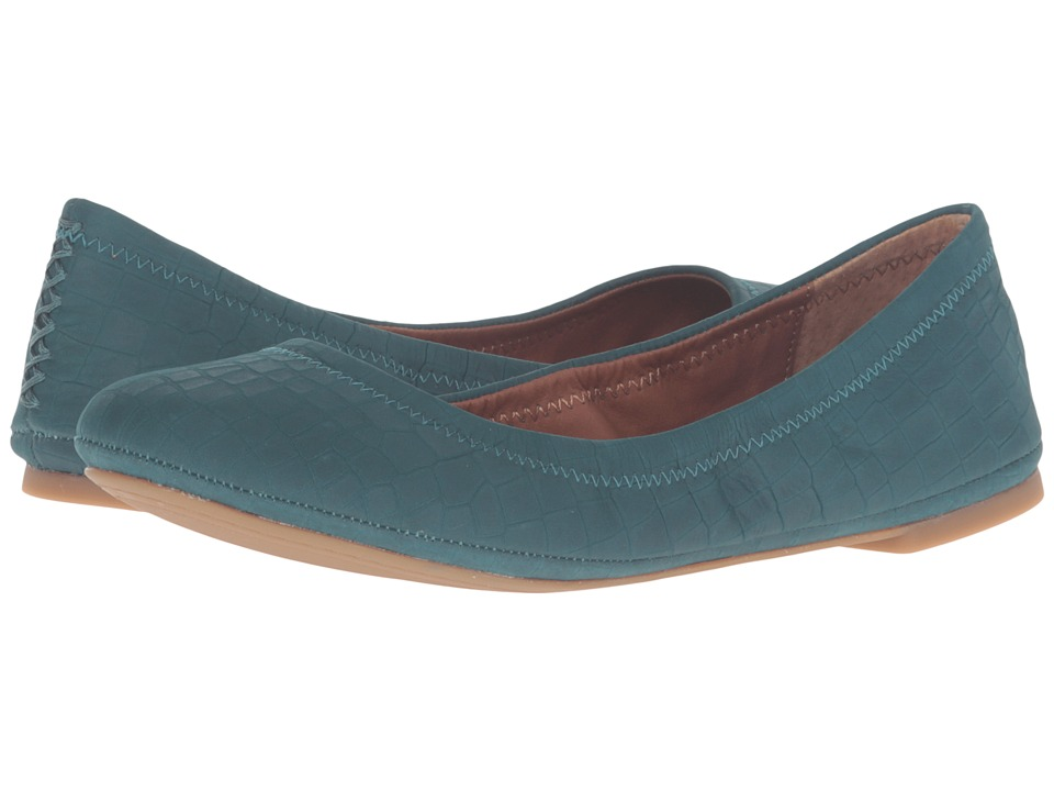Lucky Brand - Emmie (Dark Teal Nubuck Leather) Women's Flat Shoes