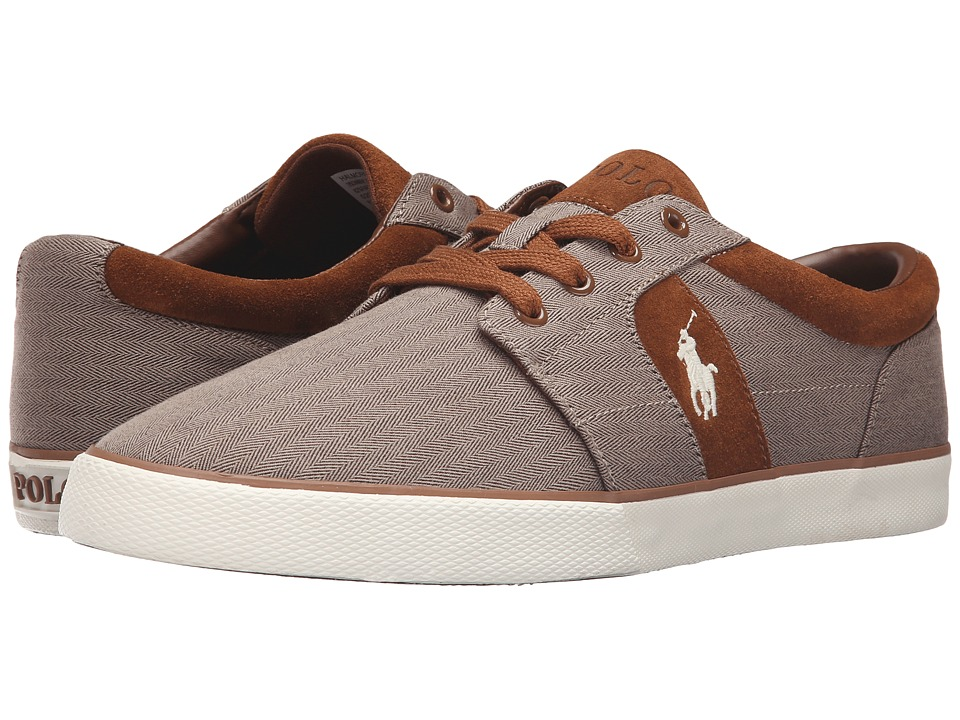 Polo Ralph Lauren - Halmore II (Dark Khaki Chambray Herringbone/Sport Suede) Men's Shoes