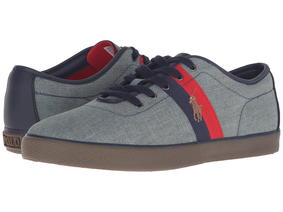 Polo Ralph Lauren - Halford (Blue Green Chambray) Men's Lace up casual Shoes