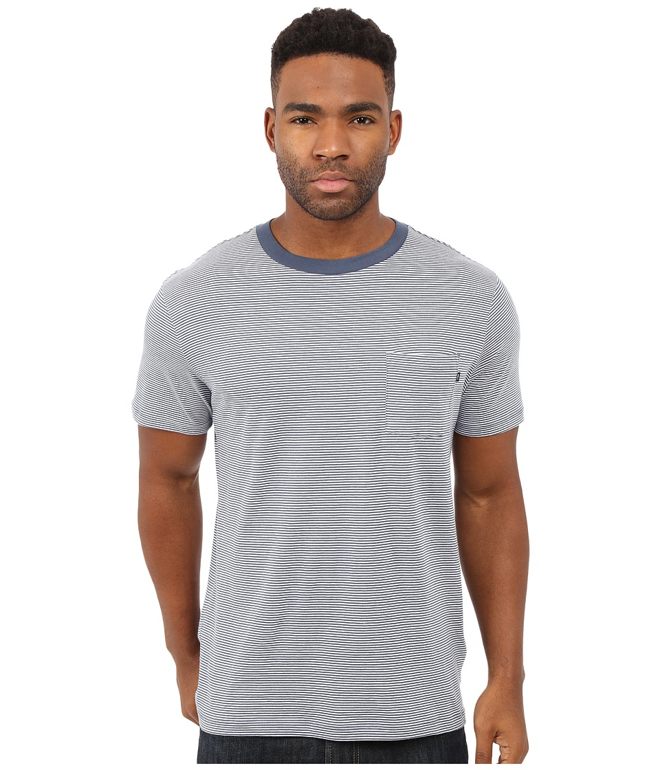 Obey Wisemaker Pocket Tee (Navy Multi) Men