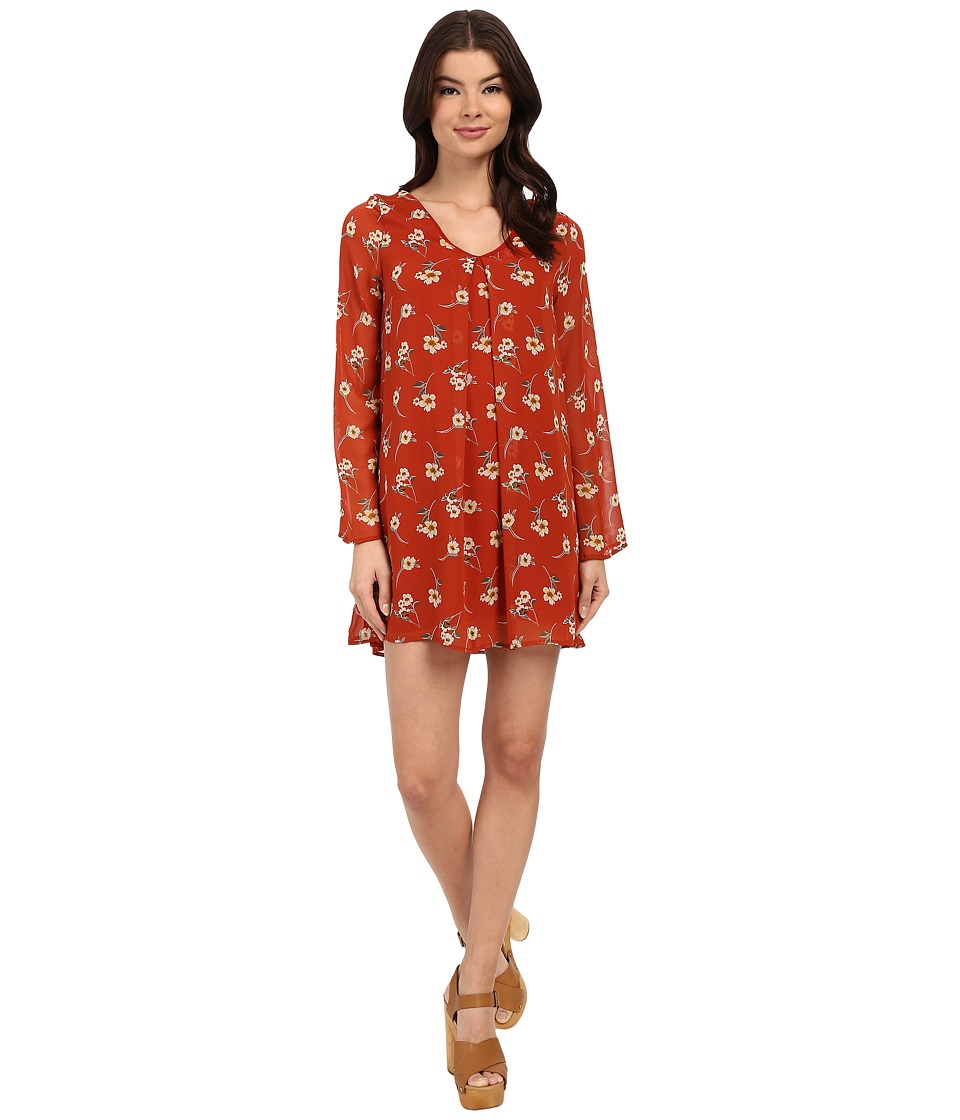 Brigitte Bailey - Liv Printed Dress (Red) Women's Dress