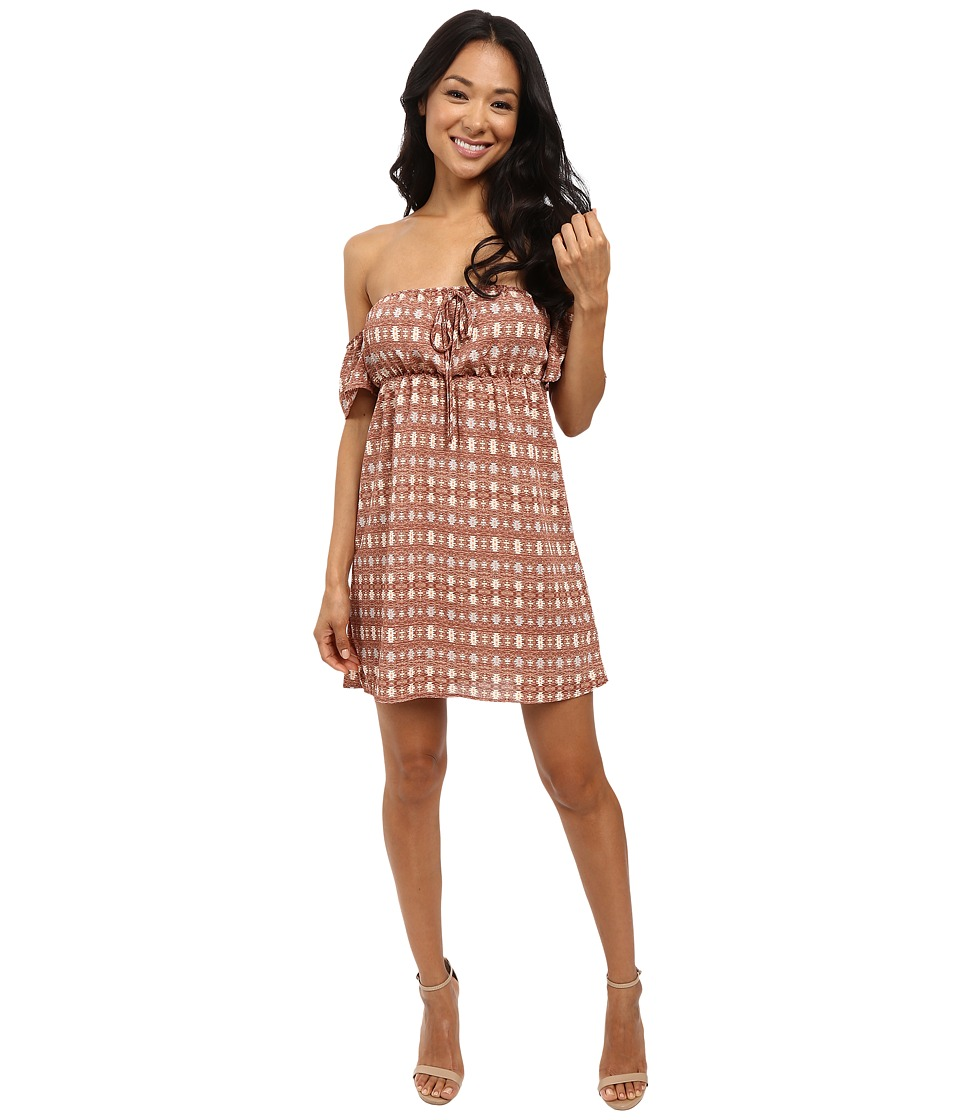 Brigitte Bailey - Marly Off the Shoulder Dress (Brown) Women's Dress