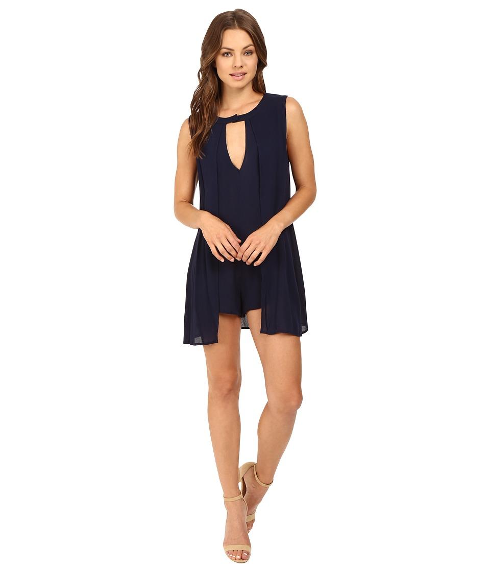 Brigitte Bailey - Lauren Keyhole Romper (Navy) Women's Dress