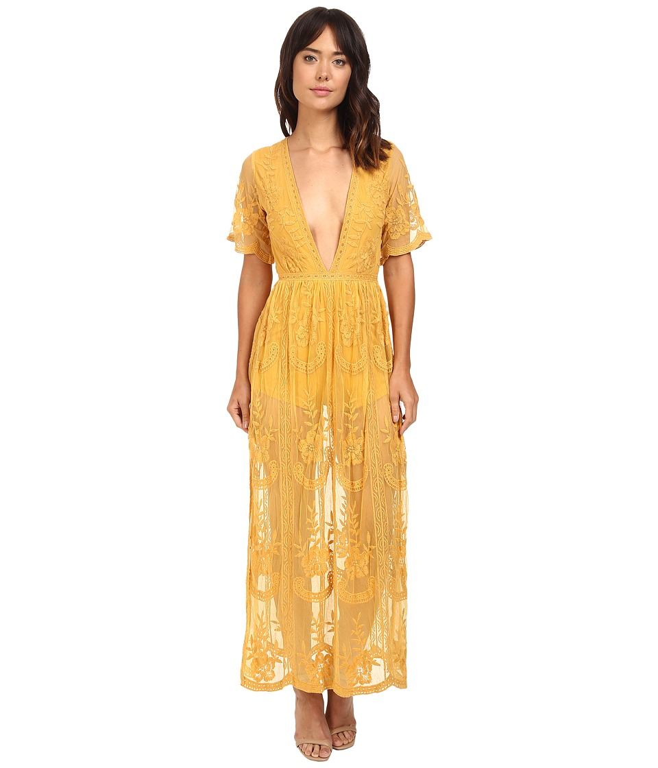 Brigitte Bailey - Joana Lace Maxi Dress (Yellow) Women's Dress