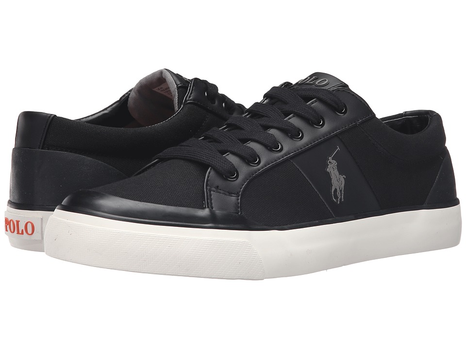 Polo Ralph Lauren - Ian (Polo Black Canvas) Men's Shoes
