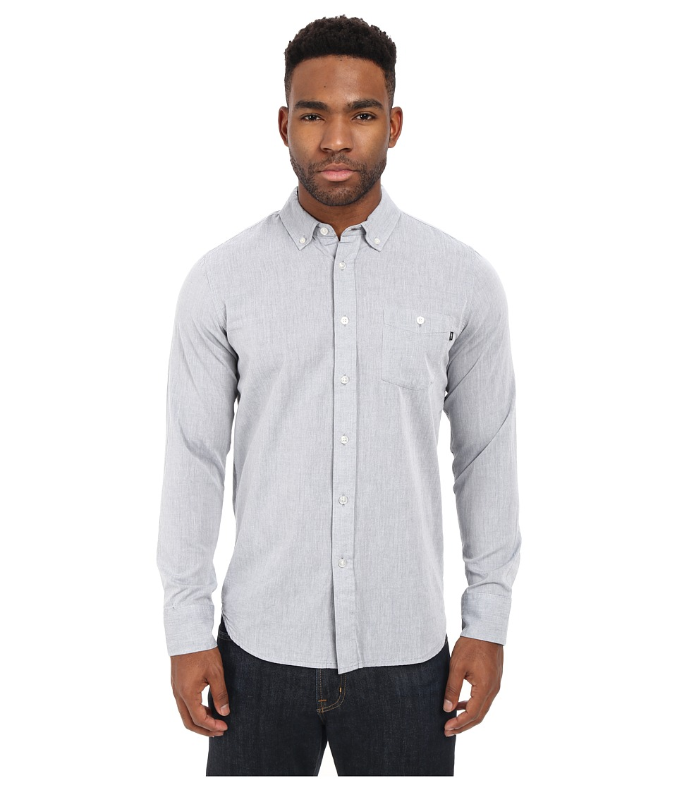 Obey - Capital Long Sleeve Woven Top (Grey) Men's Long Sleeve Button Up