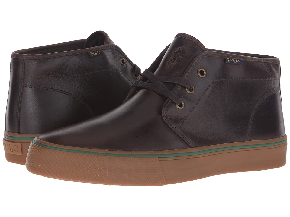 Polo Ralph Lauren Maykn (Dark Brown Smooth Oil Leather) Men