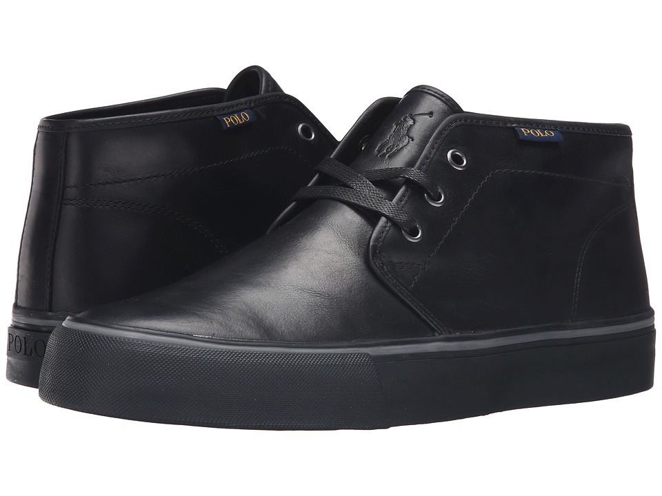 Polo Ralph Lauren - Maykn (Black Smooth Oil Leather) Men's Shoes