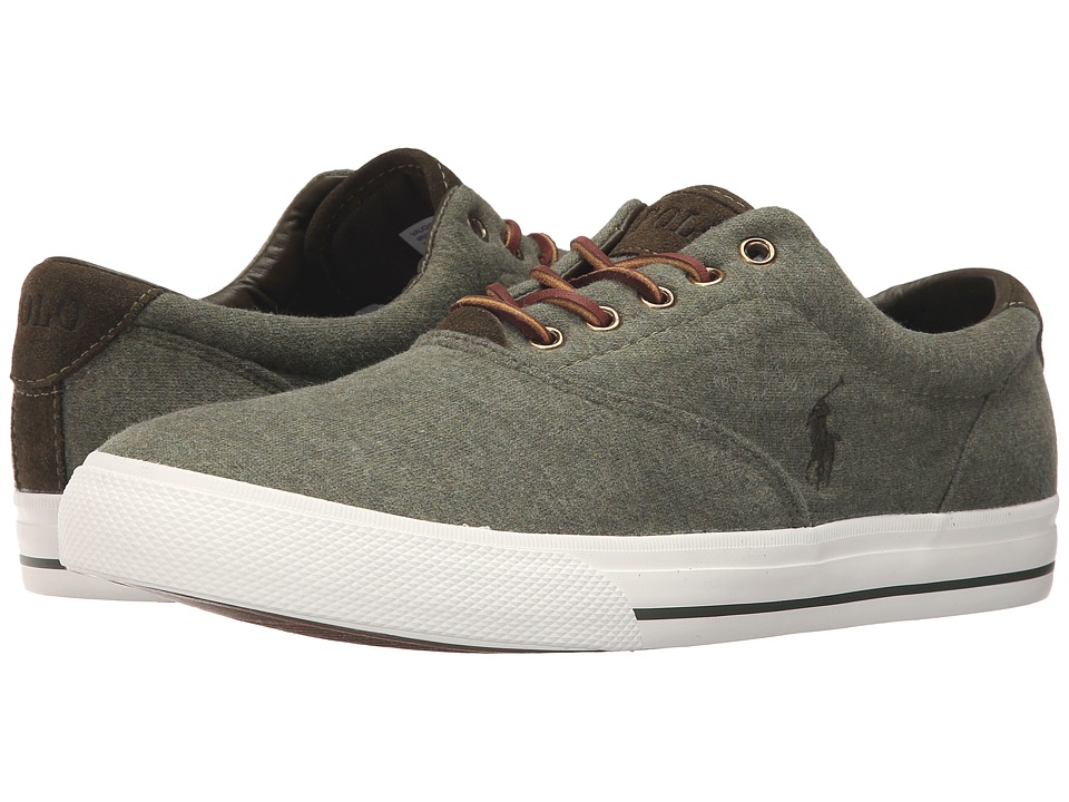 Polo Ralph Lauren - Vaughn (Moss Heather Sweatshirt Fleece) Men's Lace up casual Shoes