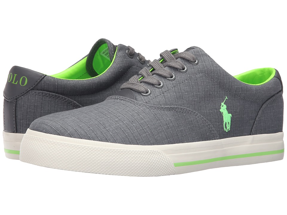 Polo Ralph Lauren - Vaughn (Grey Matte Ripstop) Men's Lace up casual Shoes