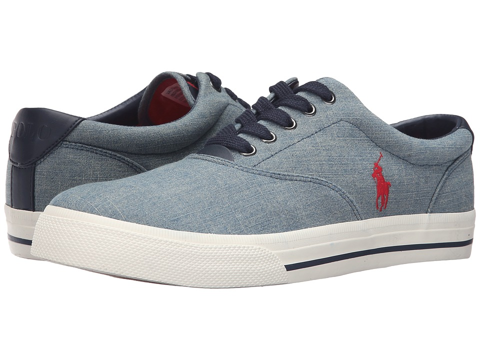 Polo Ralph Lauren - Vaughn (Blue Green Chambray) Men's Lace up casual Shoes