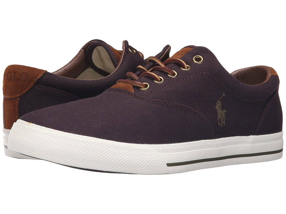Polo Ralph Lauren - Vaughn (Purple Canvas/Sport Suede) Men's Lace up casual Shoes