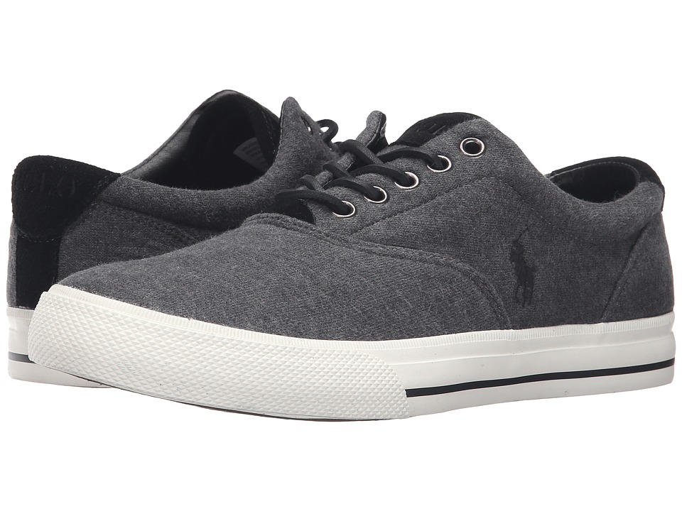 Polo Ralph Lauren - Vaughn (Charcoal Grey Sweatshirt Fleece) Men's Lace up casual Shoes