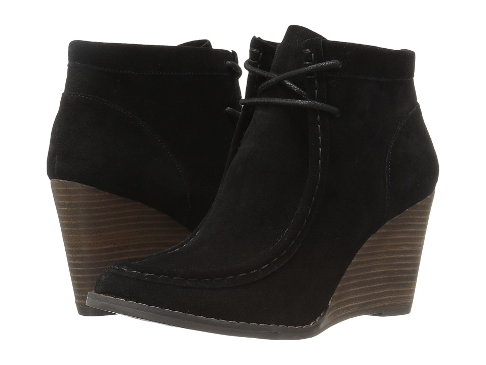 Lucky Brand Ysabel (Black Oil Suede) Women