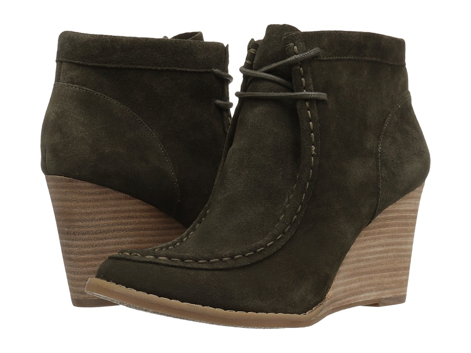 Lucky Brand Ysabel (Dark Moss Oil Suede) Women