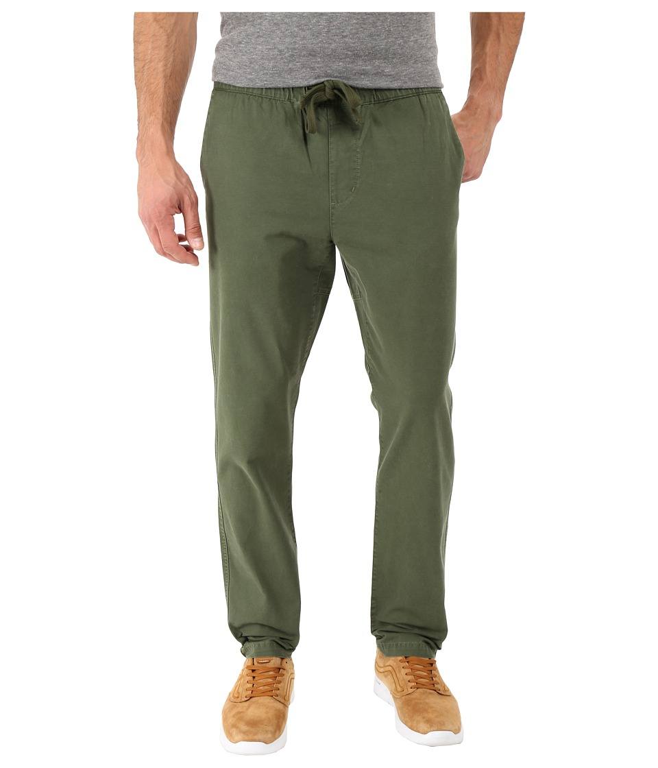 Obey Travelers Slub Twill Pants (Dark Army) Men