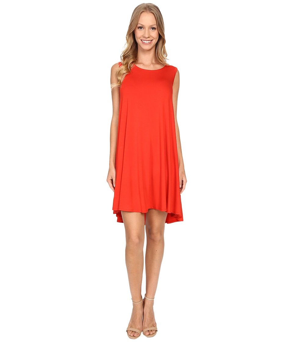 Karen Kane - Sleeveless Maggie Trapeze Dress (Poppy) Women's Dress