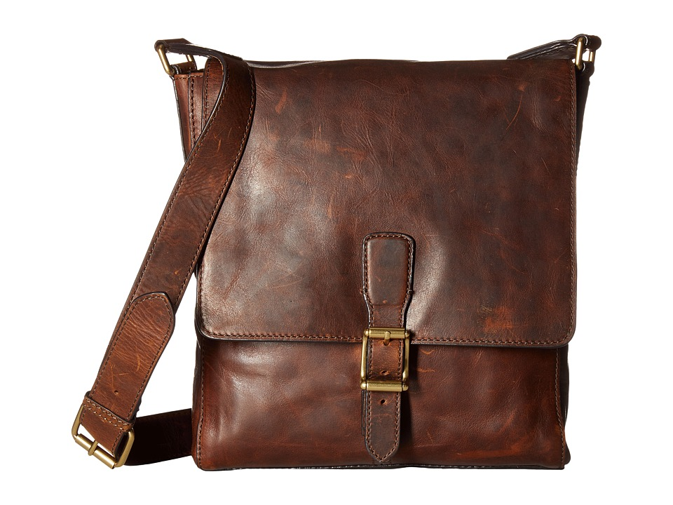 Frye - Logan Small Messenger (Dark Brown) Messenger Bags