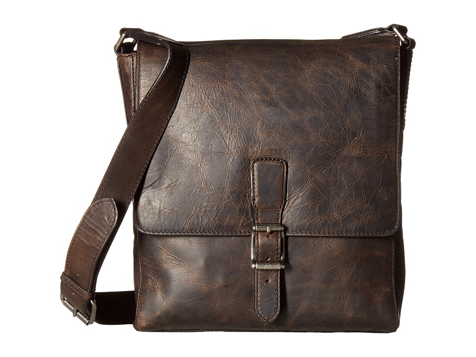 Frye - Logan Small Messenger (Slate) Messenger Bags