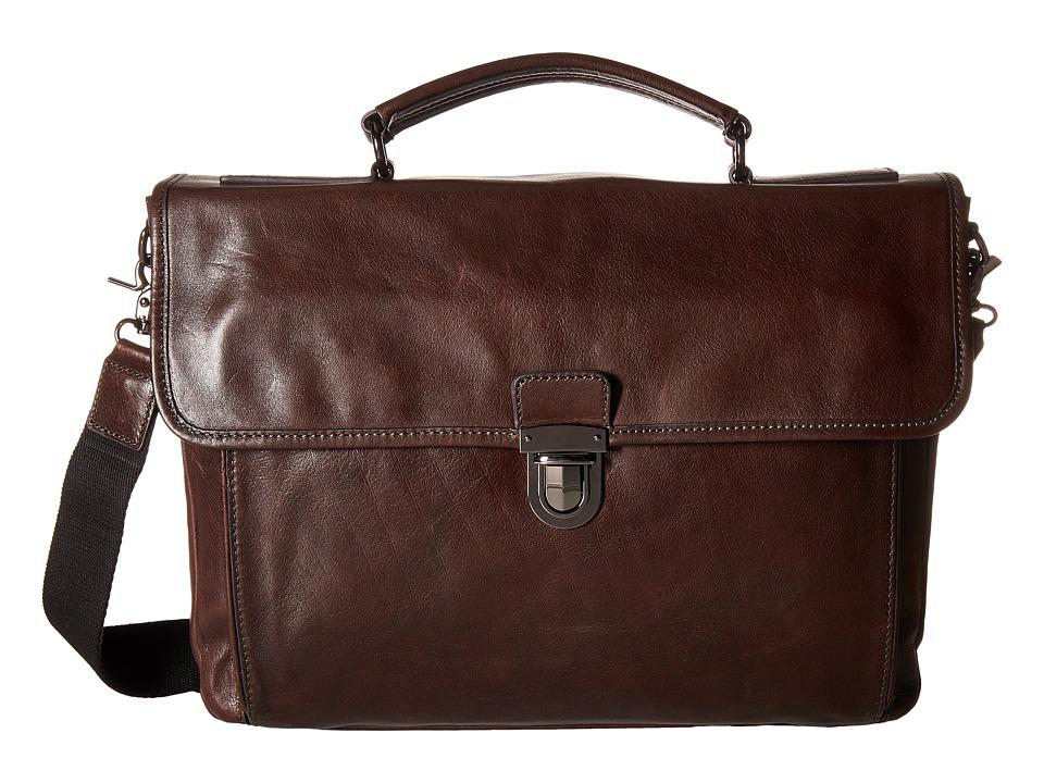 Frye - Stanton Top-Handle (Dark Brown) Hobo Handbags