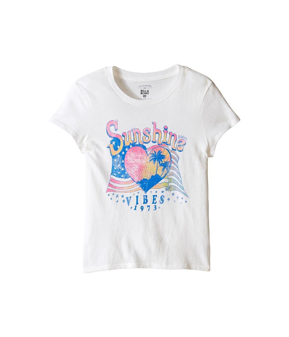 Billabong Kids - Sunshine Vibes Tee (Little Kids/Big Kids) (White) Girl's T Shirt
