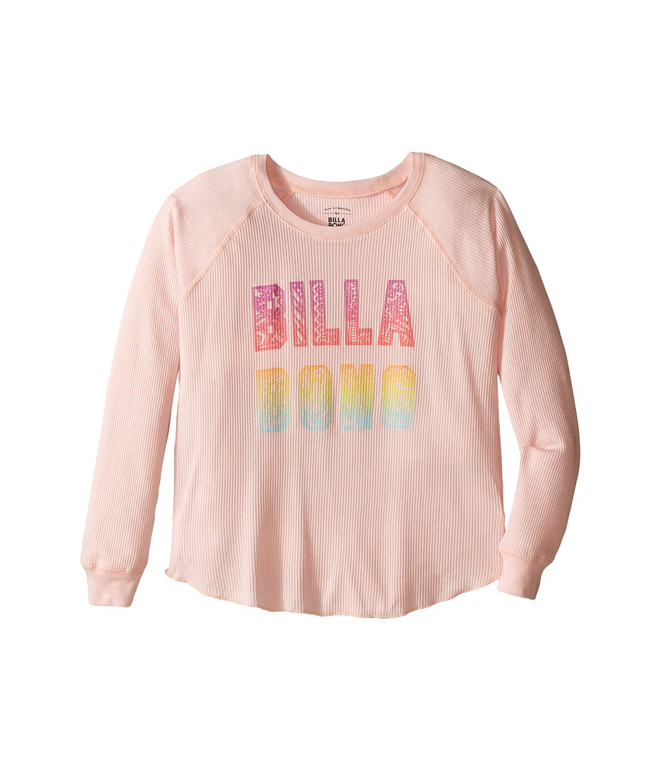 Billabong Kids - Doodle Logo Thermal (Little Kids/Big Kids) (Cheeky Pink) Girl's Clothing