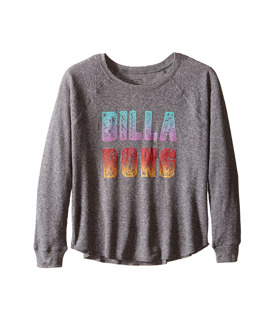 Billabong Kids - Doodle Logo Thermal (Little Kids/Big Kids) (Dark Athletic Grey) Girl's Clothing
