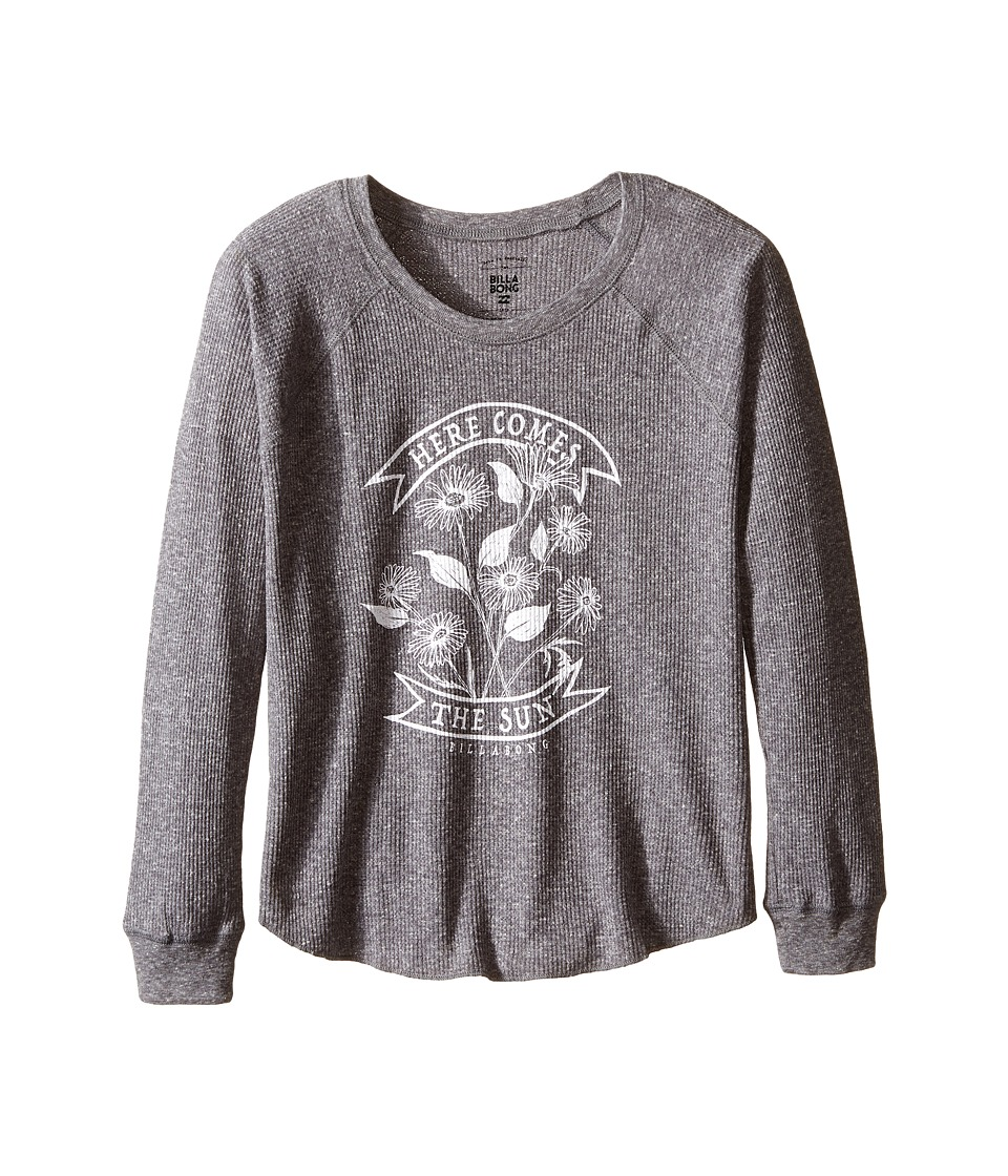 Billabong Kids - Sunshine Daisies Thermal (Little Kids/Big Kids) (Dark Athletic Grey) Girl's Clothing