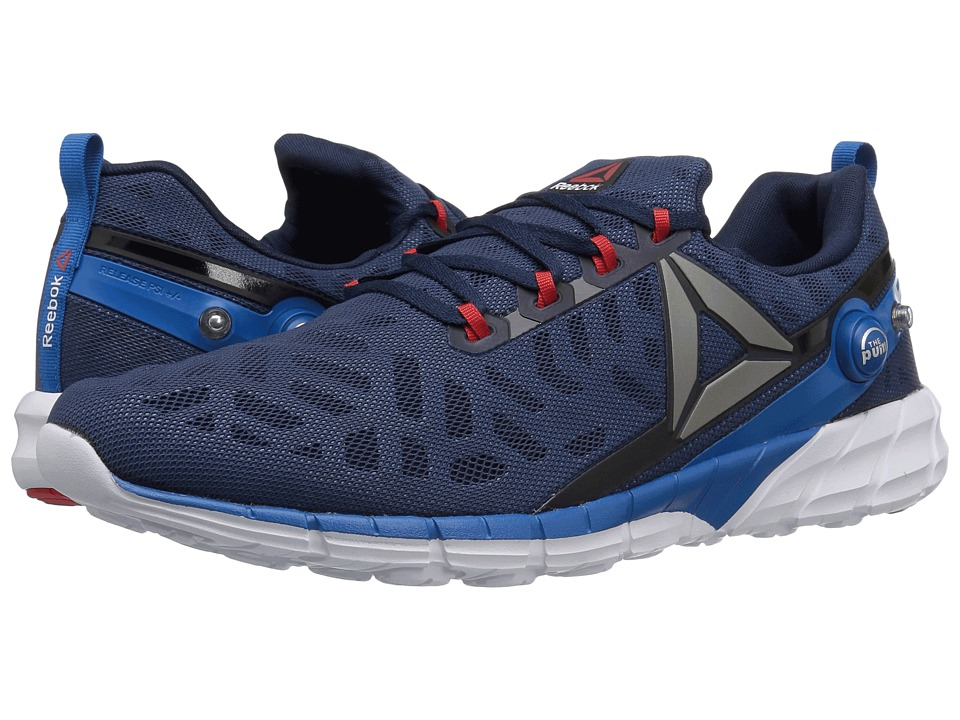 Reebok - ZPump Fusion 2.5 (Collegiate Navy/Instinct Blue/Pewter/Riot Red/White) Men's Running Shoes