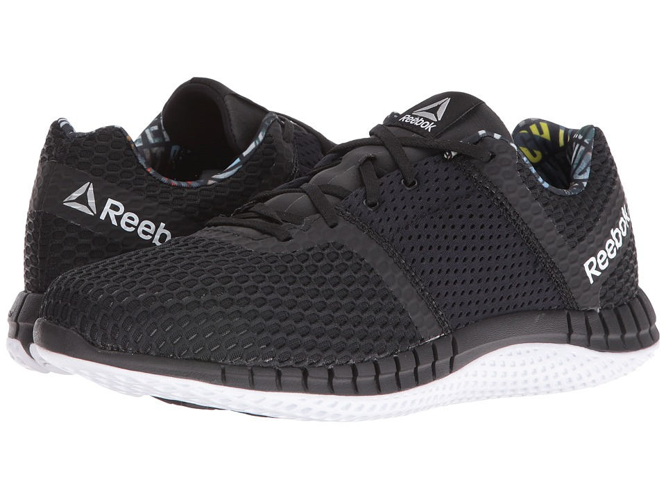 Reebok - ZPrint Run Thru GP (Black/White) Men's Running Shoes