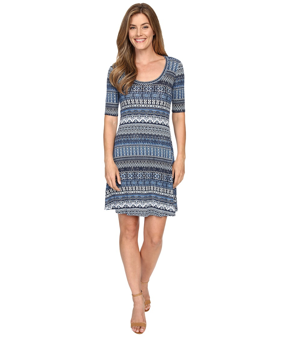 Karen Kane - Mosaic Stripe T-Shirt Dress (Print) Women's Dress