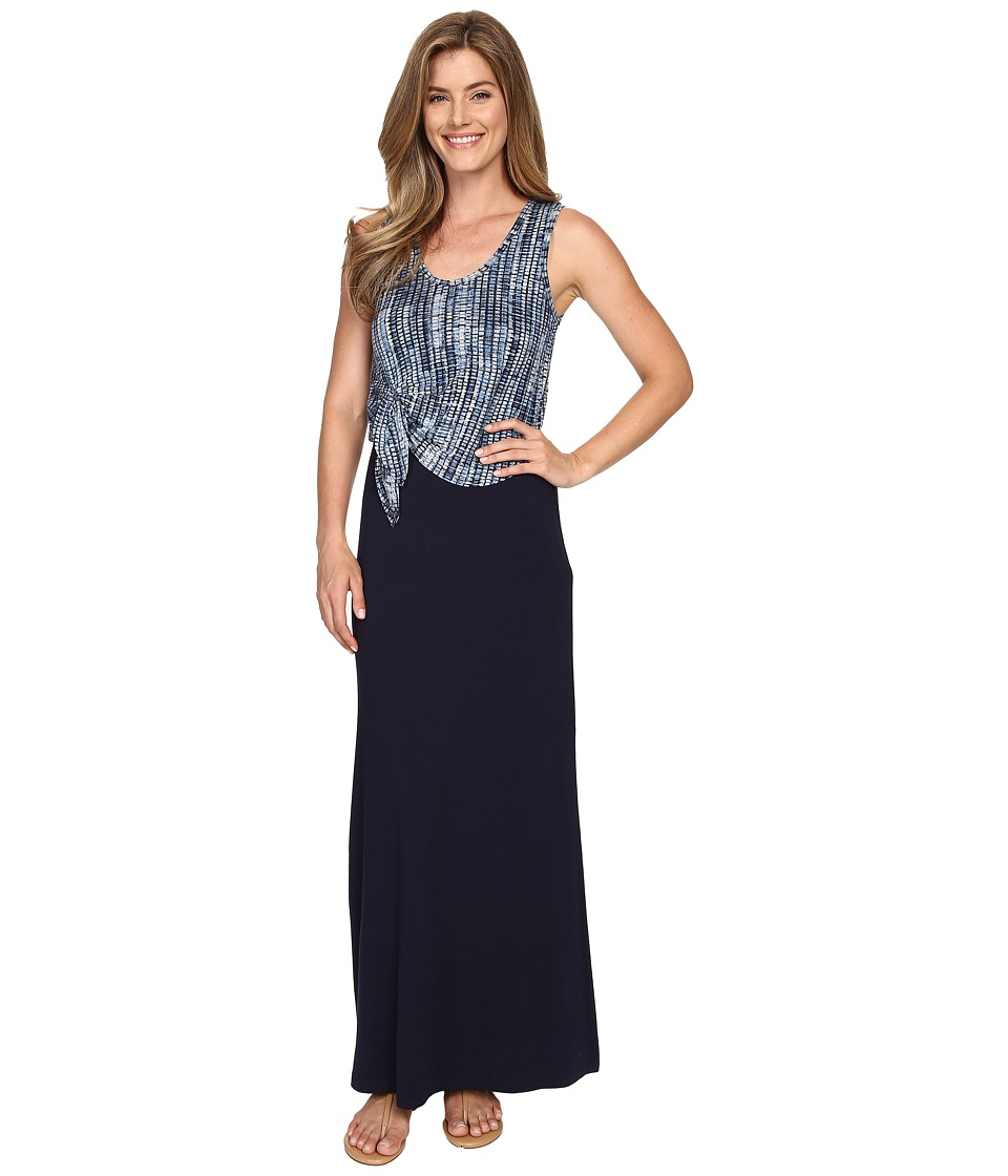 Karen Kane - Tie-Top Maxi Dress (Navy) Women's Dress