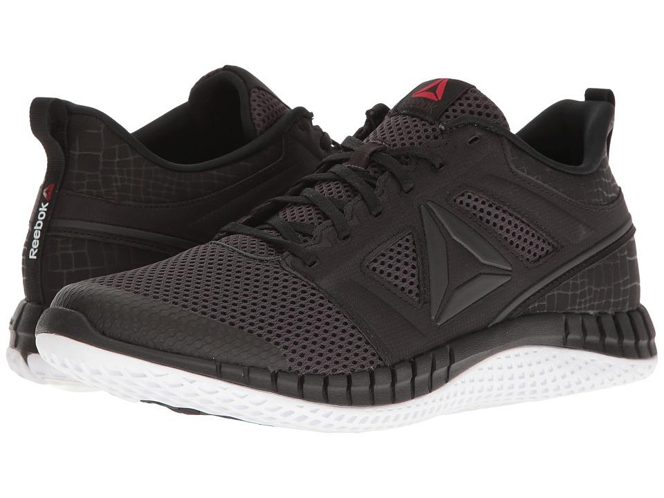 Reebok - ZPrint Pro (Coal/Black/White) Men's Running Shoes
