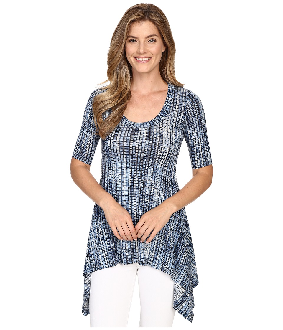 Karen Kane - Pencil Sleeve Handkerchief Top (Print) Women's Blouse