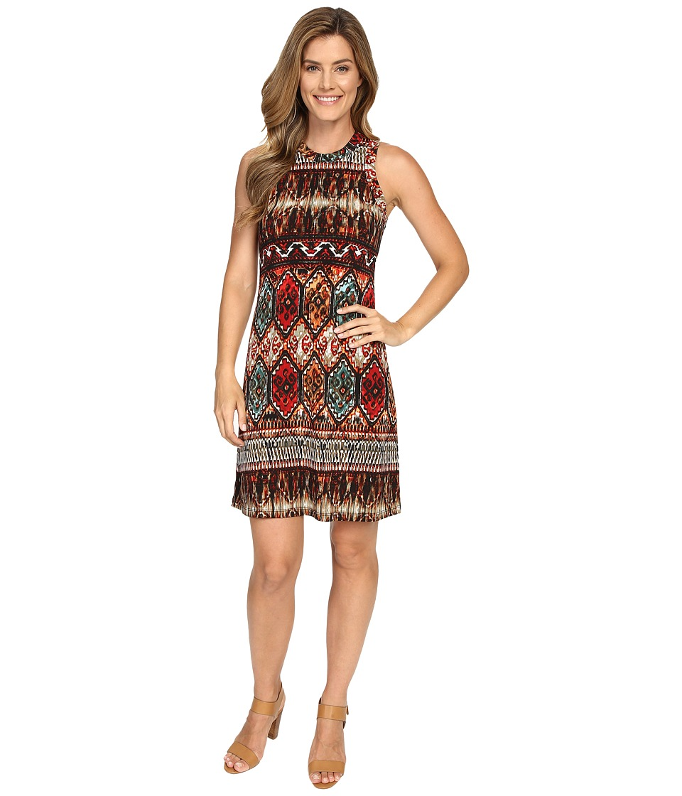 Karen Kane - Border Print Halter Dress (Print) Women's Dress